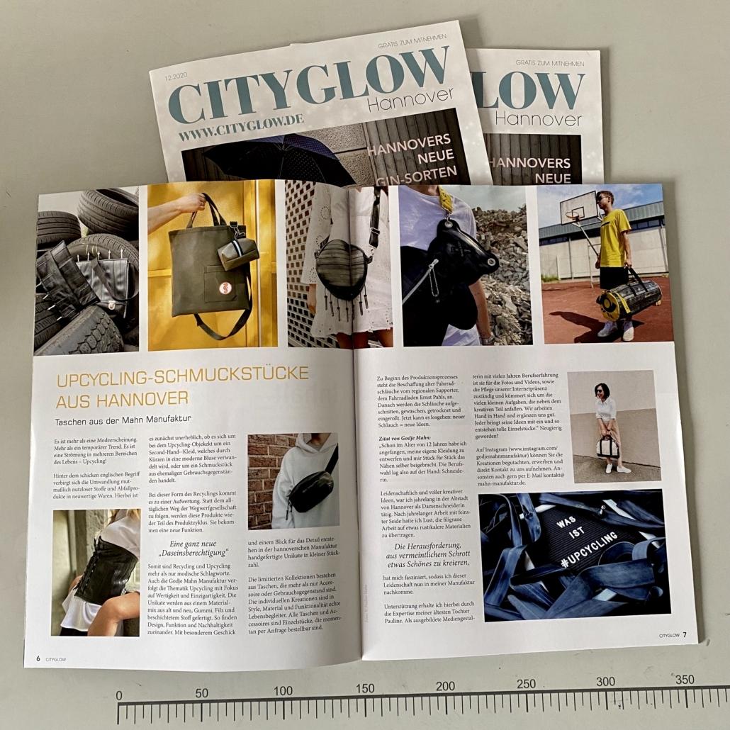Interview Artikel in dem Cityglow Magazin