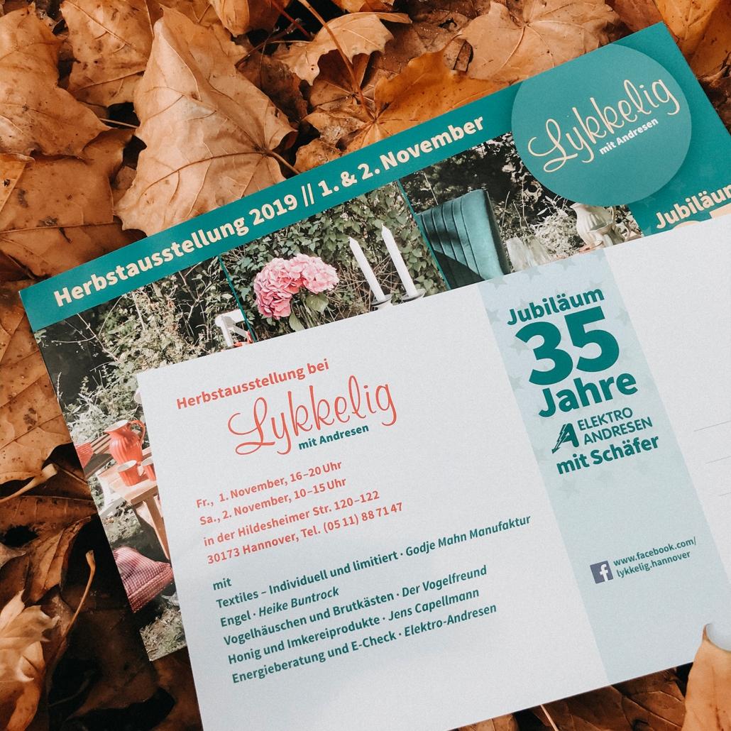 Einladung zur Herbstausstellung 2019 bei Lykkelig